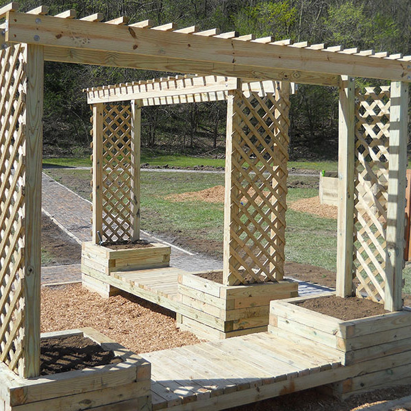 How to build a trellis planter bench