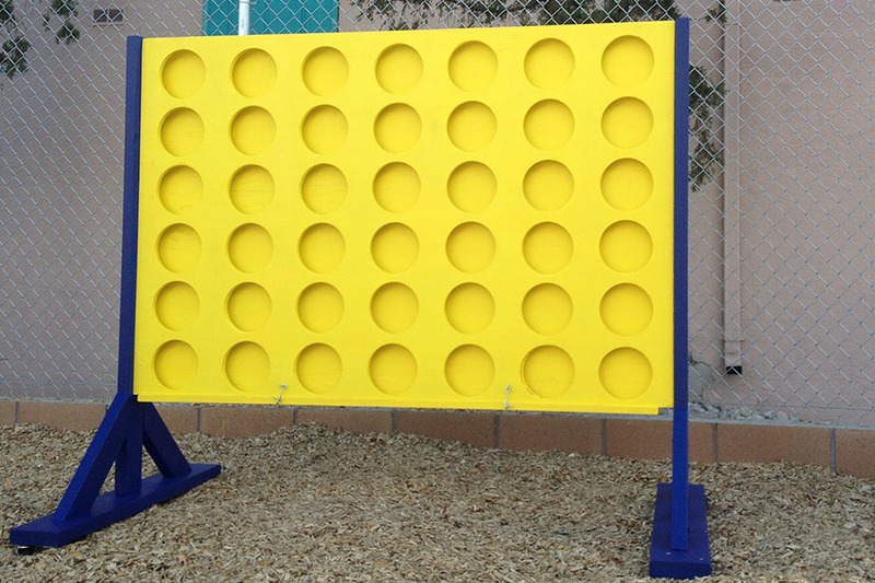 Life-sized connect four