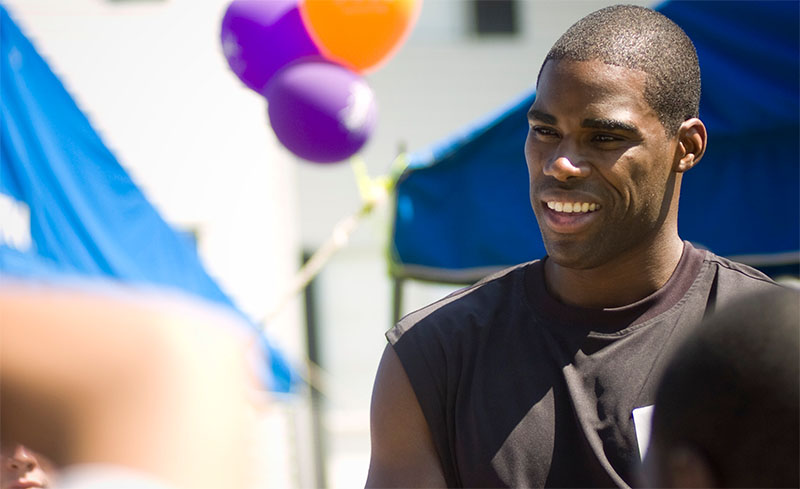 Antawn Jamison at a KaBOOM! playground build