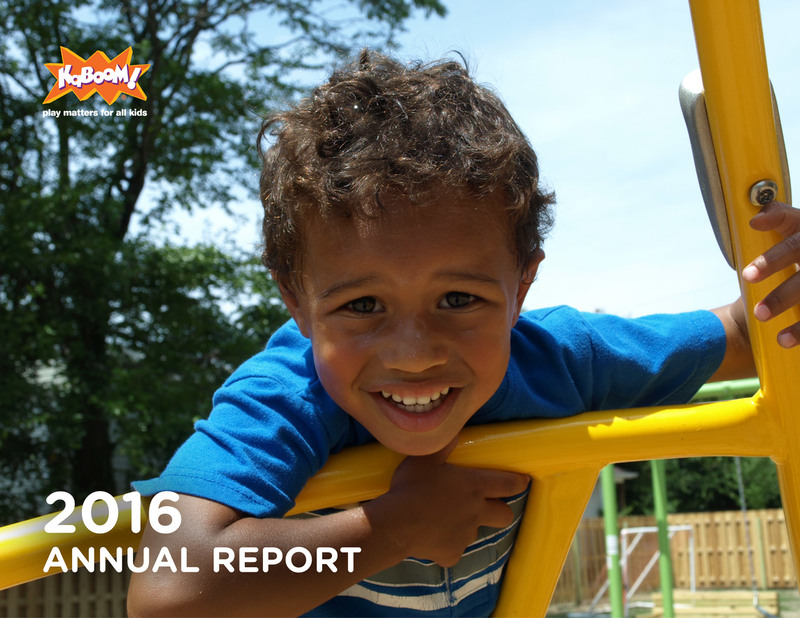 2016 KaBOOM! Annual Report