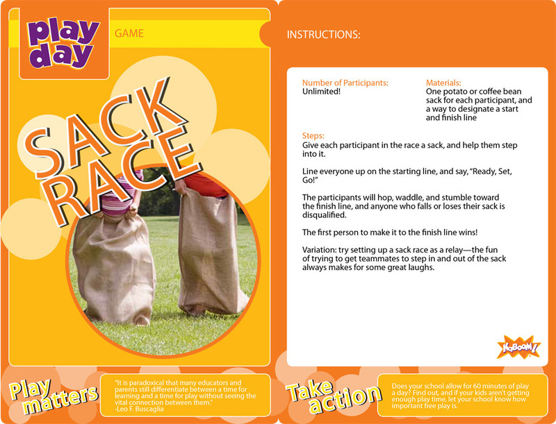 Sack Race Information Card