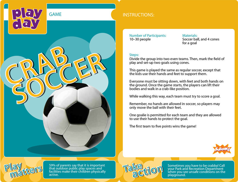 Crab Soccer Information Card