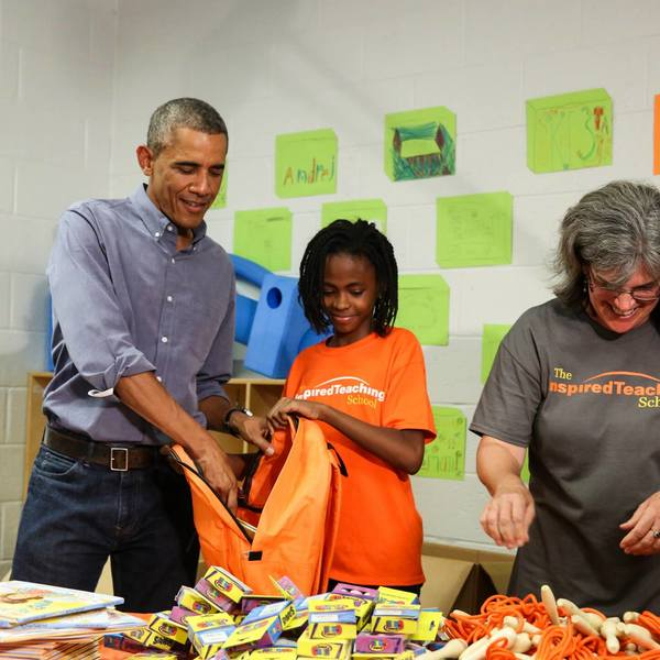 Day of Service 2014 with President and First Lady Obama 10