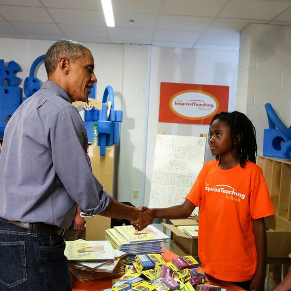 Day of Service 2014 with President and First Lady Obama 12