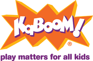 KaBOOM! logo with purple tagline display